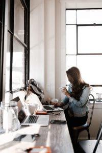 Woman copywriter