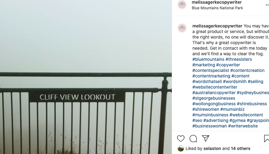 foggy cliff view on instagram