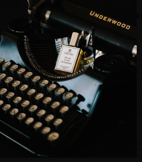 perfume on a typewriter christmas gift for writers