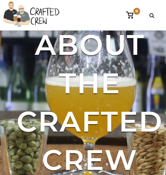 About page for Crafted Crew