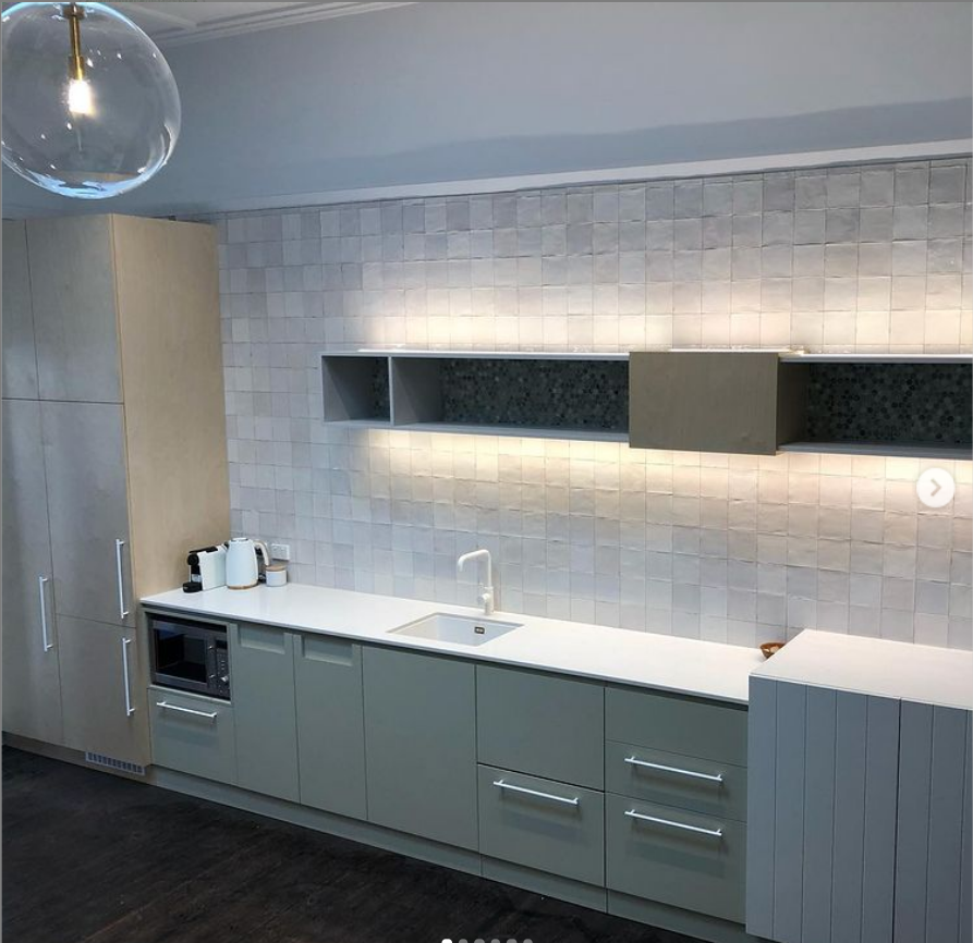 White kitchen joinery work