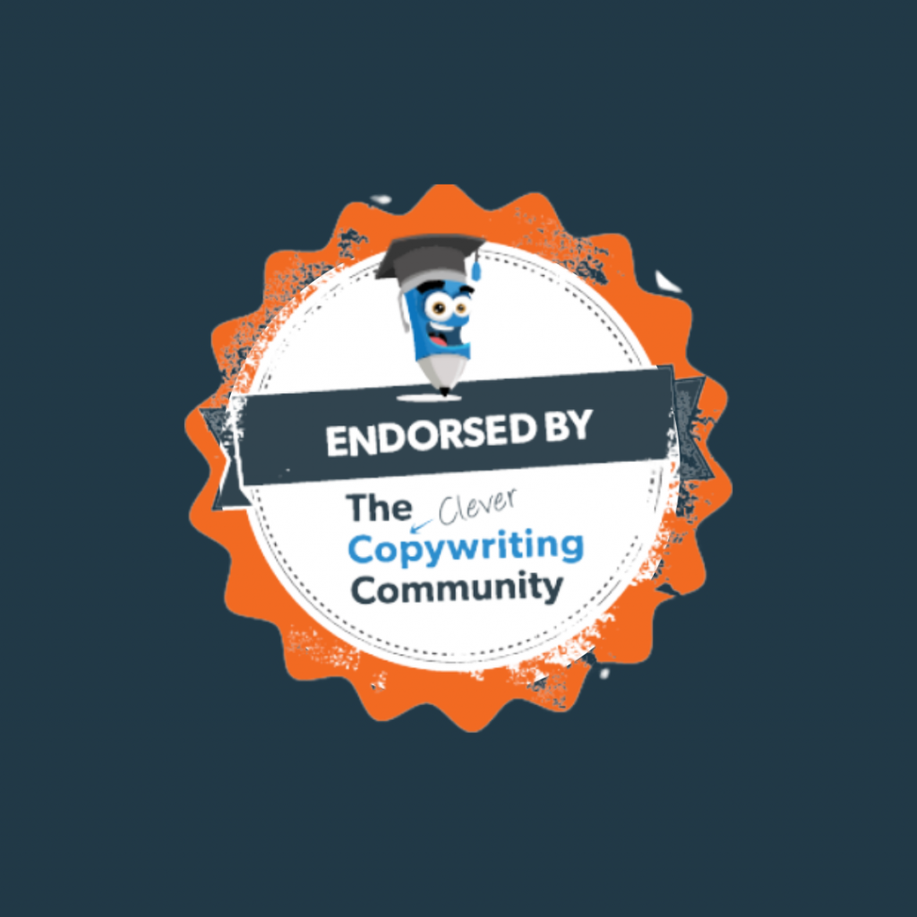 Clever copywriting community endorsed